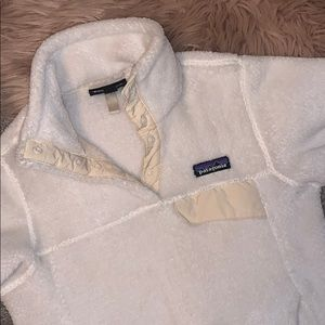 White womens Patagonia pullover
